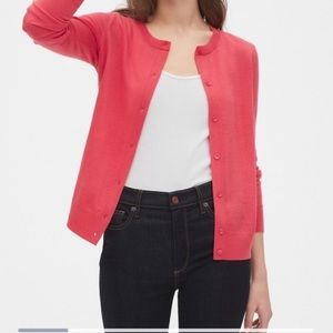 NWT lands end coral cardigan